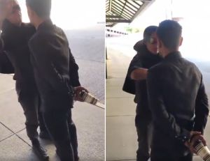"""VIDEO: Mujer blanca grita a supuesto inmigrante: """"¡Lárgate de mi f***ing país!"""""""