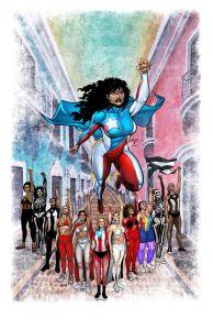 """""""La Borinqueña"""", superheroína de los puertorriqueños, retoma vuelo para ayudar a organizaciones en la isla"""