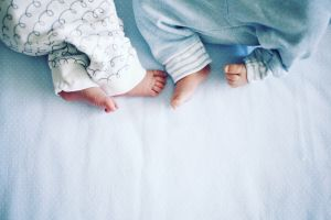 Primero dio a luz a una niña y 11 semanas después, a un niño