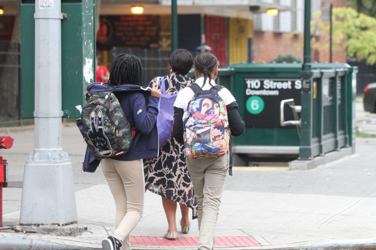 El distrito escolar de New York City está compuesto predominantemente de minorías: 26% son afro-americanos, 41% latinos, 16% asiáticos y un 15% caucásico.