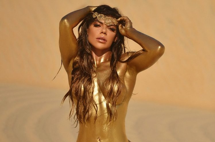 De Suzy Cortez para Messi: La brasileña y su dorado desnudo en honor al argentino