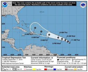 La décima tormenta tropical de la temporada amenaza Bahamas como huracán