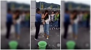 Maestro quita maquillaje a sus alumnas con agua sucia y se vuelve viral