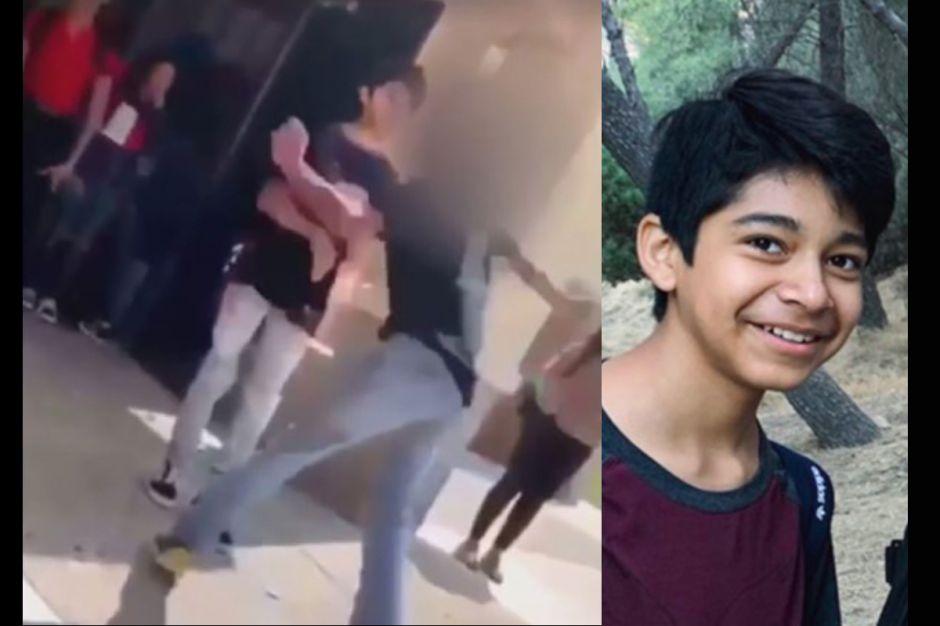 Anuncian muerte de niño de 13 años que sufrió una paliza en escuela de California