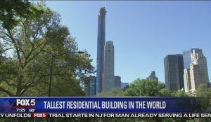 El edificio residencial más alto del mundo ya tocó el cielo de Nueva York