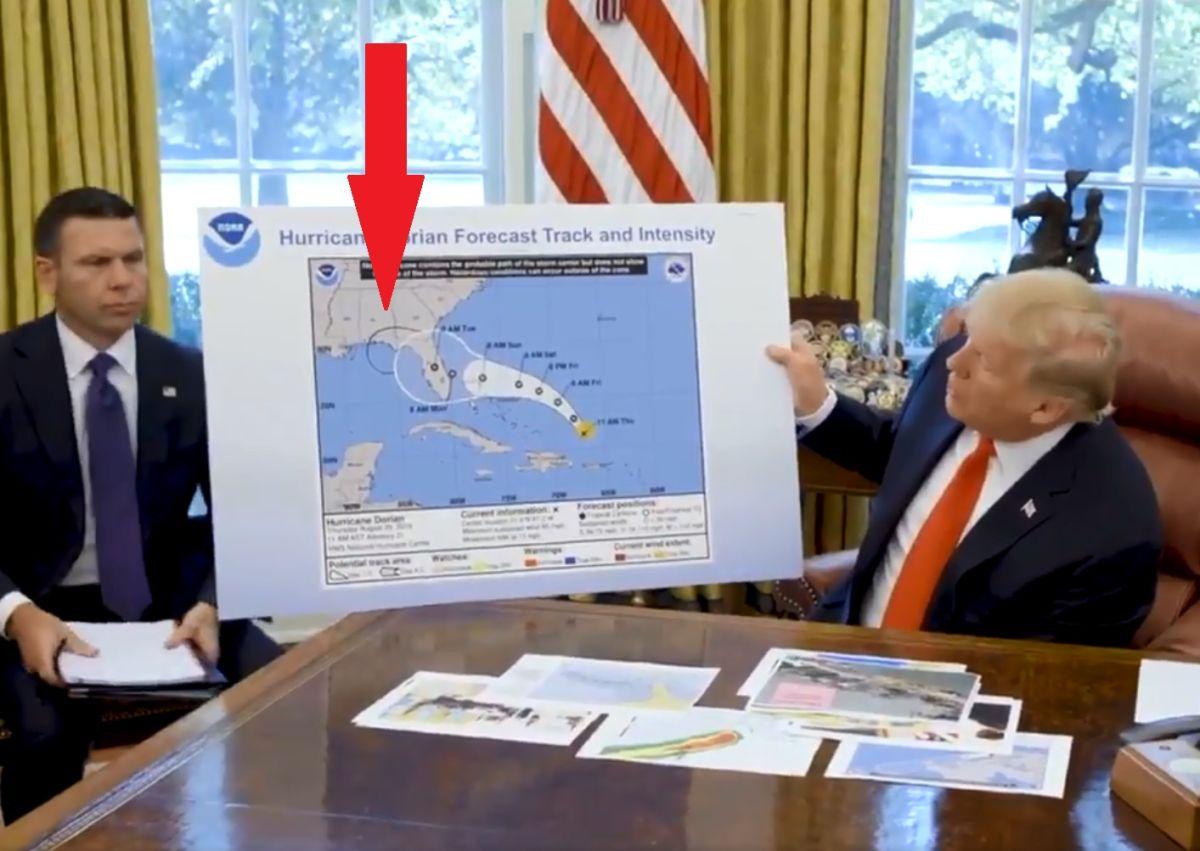 VIDEO: ¿Trump ordenó alterar mapa sobre ruta del huracán Dorian?