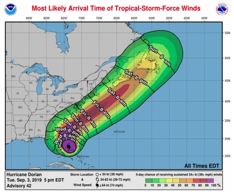 ¿Cómo afectará el huracán Dorian a Nueva York?