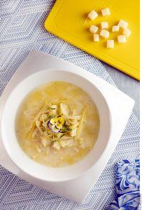 ¡Consume más fibra y pierde peso! exquisita sopa de poro y papa