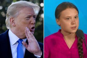 Trump se burla de Greta Thunberg, la joven activista contra el cambio climático