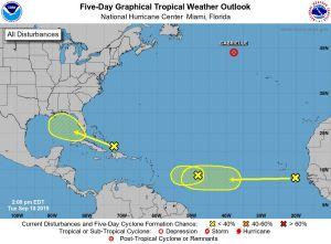Hoy es el día más crítico de la temporada de ciclones y hay 3 tormentas en el Atlántico