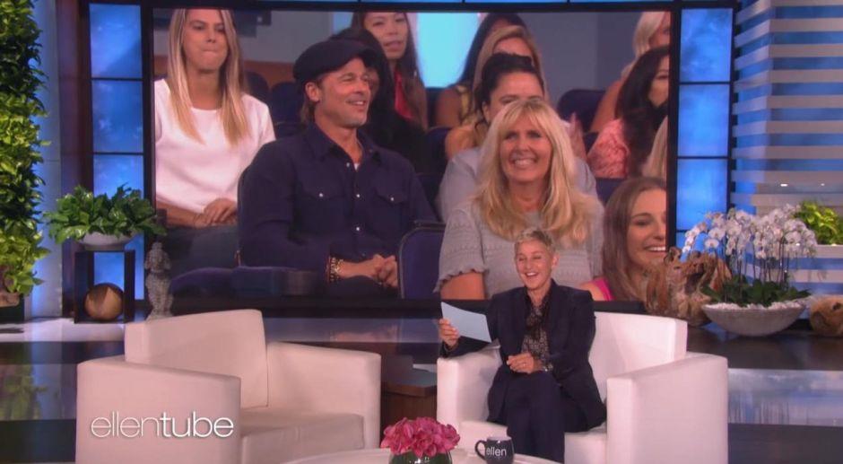 Brad Pitt, el colado más sexy que ha llegado al show de Ellen Degeneres