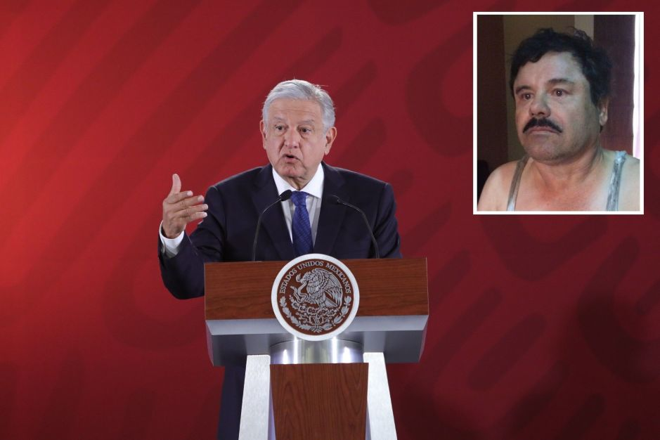 """AMLO negocia con EEUU sobre los bienes de """"El Chapo"""", lo quiere para México"""