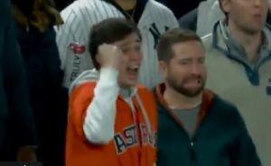 Identifican al aficionado de los Astros que se robó la noche con su reacción en el estadio de los Yankees