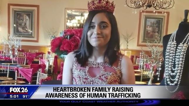Se mató en brazos de su padre quinceañera hispana víctima de tráfico sexual