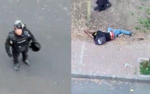 VIDEO: Residentes reclaman a policías por golpiza a un manifestante en Ecuador