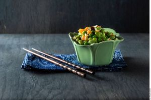 Exquisita ensalada tibia de frijoles de soya ¡Altísimo contenido en proteína vegetal y fibra!