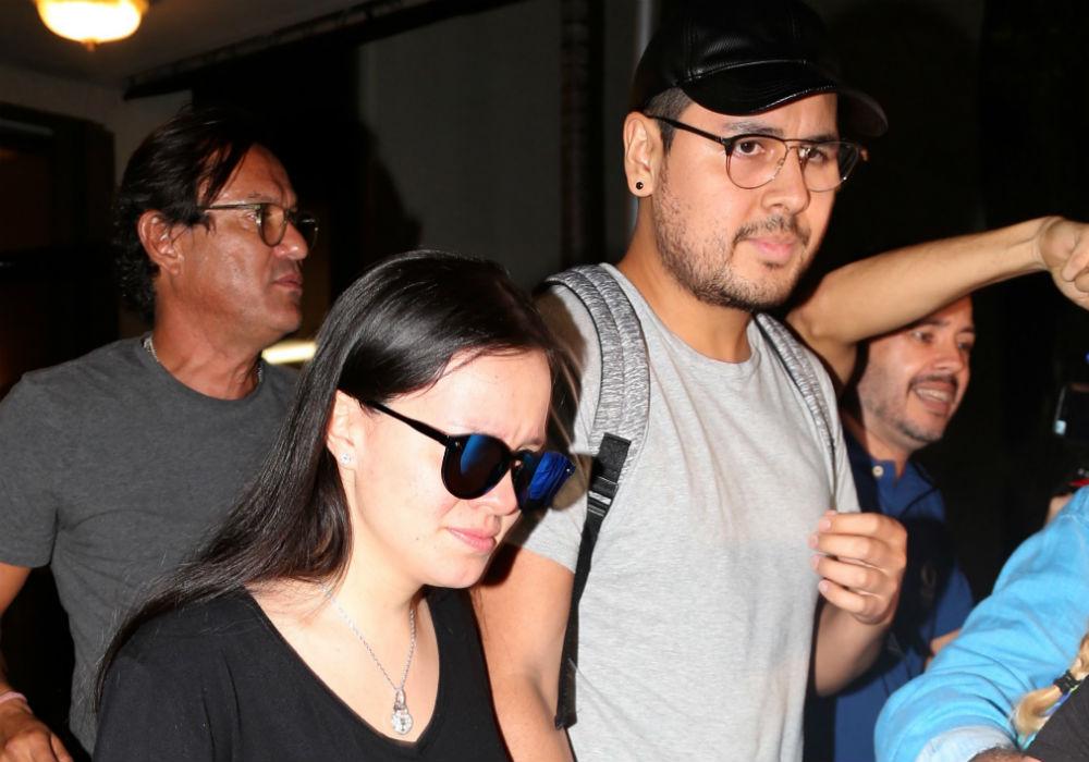 Sarita Sosa, hija menor de José José, de vacaciones en Orlando con su esposo y el rapero Noé