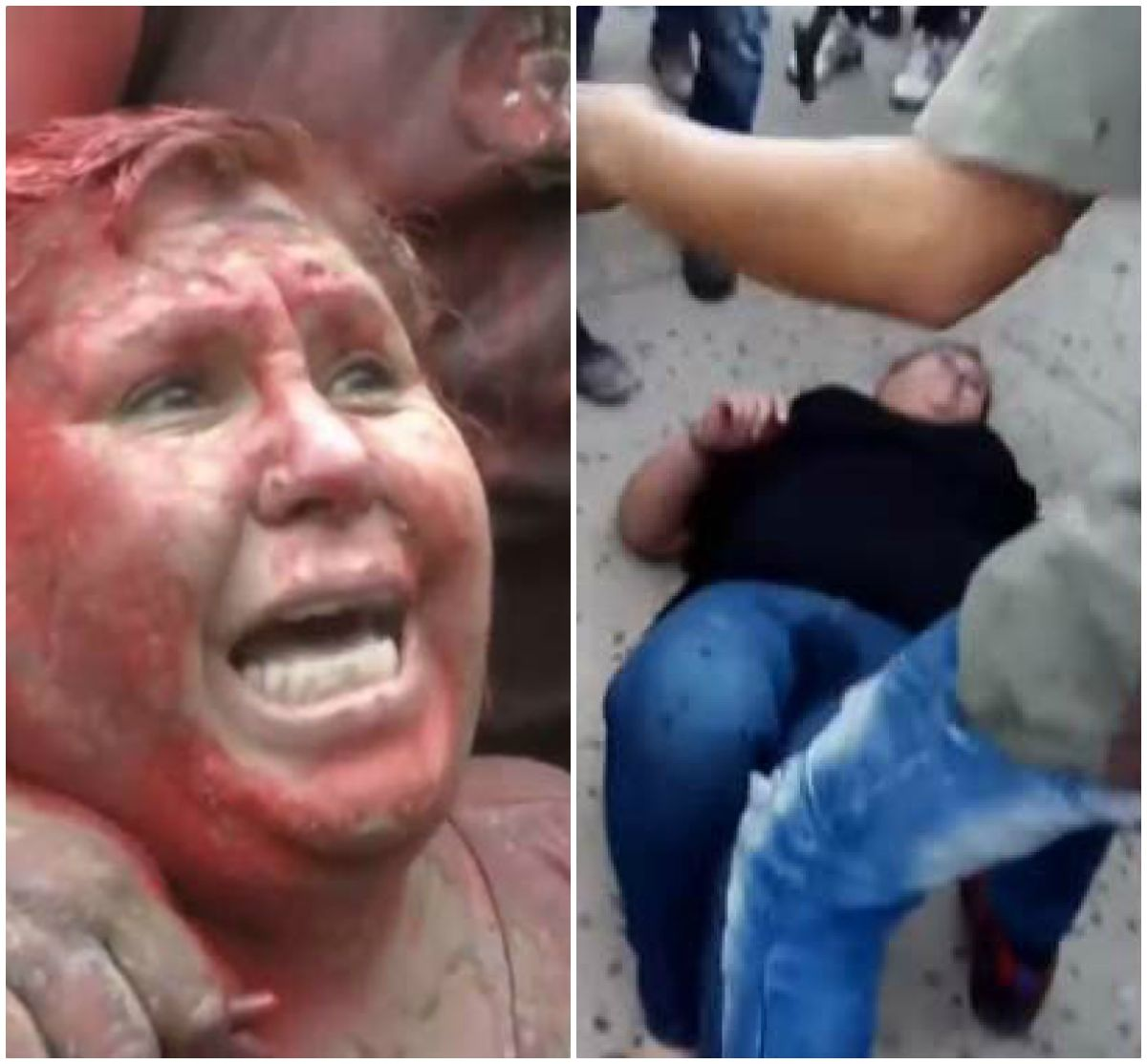 Turba arrastra a alcaldesa por la calle, la pintan de rojo y le cortan el pelo en medio de protestas en Bolivia