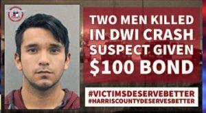 Texas: Juez fija fianza de $100 a conductor hispano borracho acusado de matar a 2 hombres