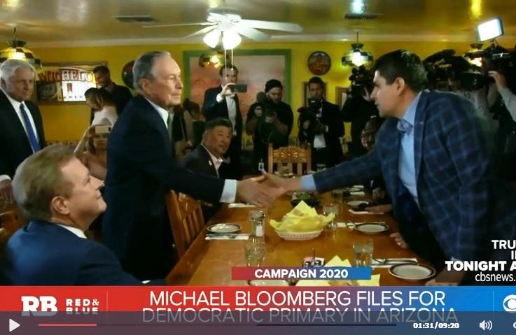 """""""EEUU necesita muchos más inmigrantes"""": la apuesta presidencial del ex alcalde Bloomberg desde un restaurante mexicano"""