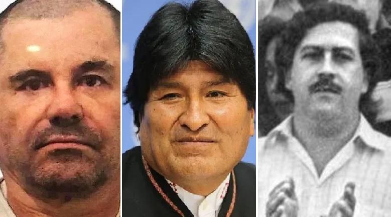 """""""El Chapo"""", Evo Morales y Pablo Escobar, la foto que desató la locura en Facebook y Twitter"""
