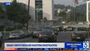 Un alguacil mata a tiros a un hombre armado con una espada en una escuela de East L.A.