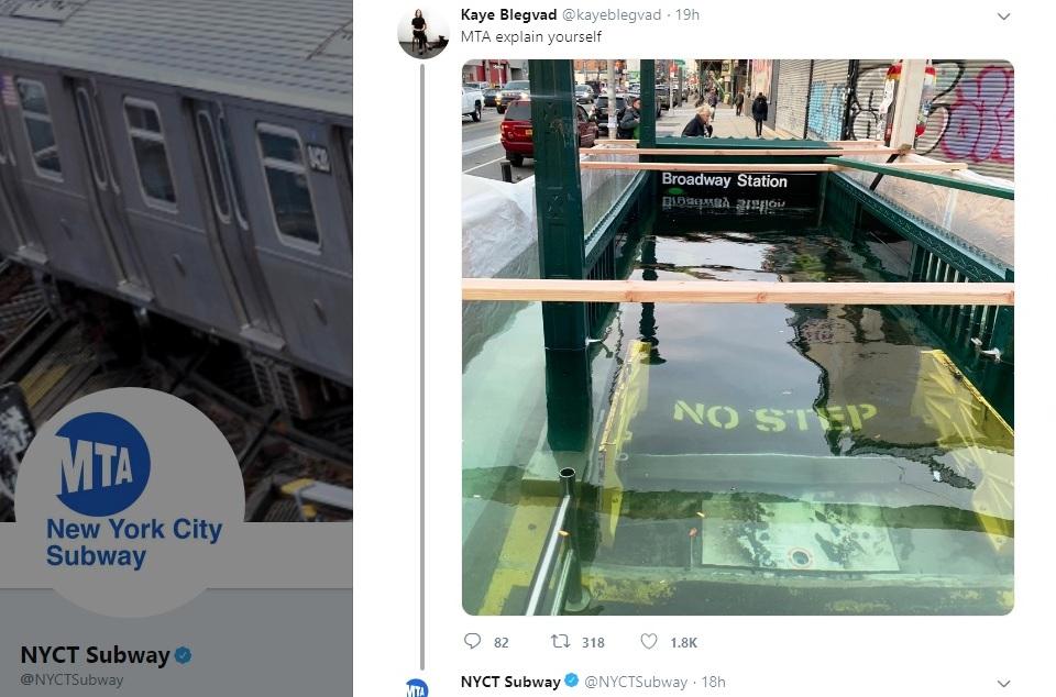 Inundaron una estación del Metro de Nueva York a propósito