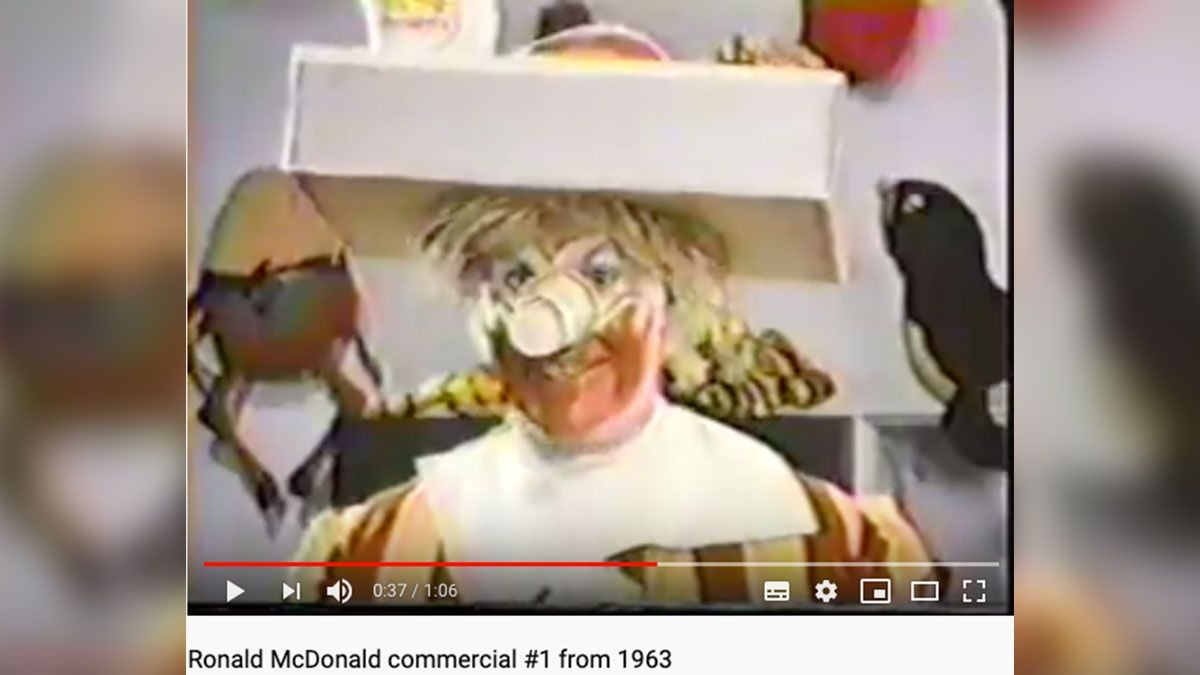 VIDEO: Conoce a la primera mascota que tuvo McDonald's ¡Es terrorífica!