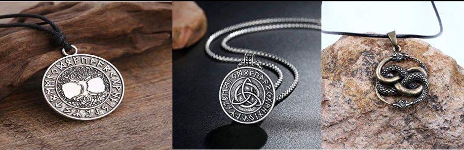 4 amuletos de la suerte con diseños inspirados en la mitología nórdica