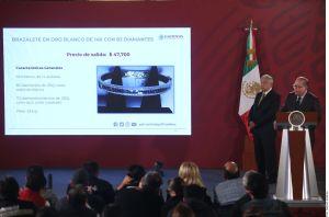 AMLO anuncia nueva subasta de joyas del narco, dice que será la más grande