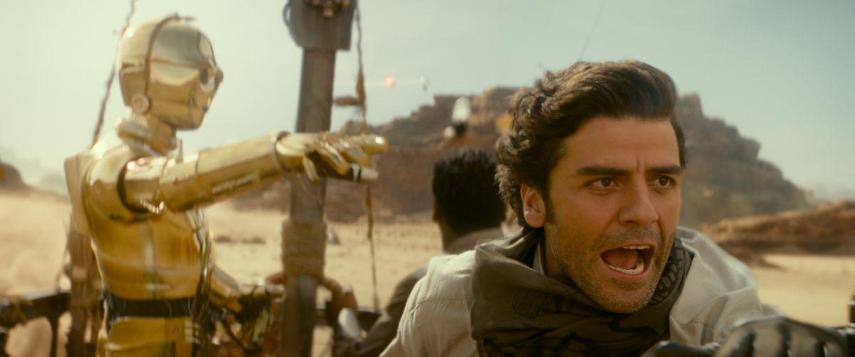 Óscar Isaac como Poe Dameron en Star Wars: The Rise of Skywalker.