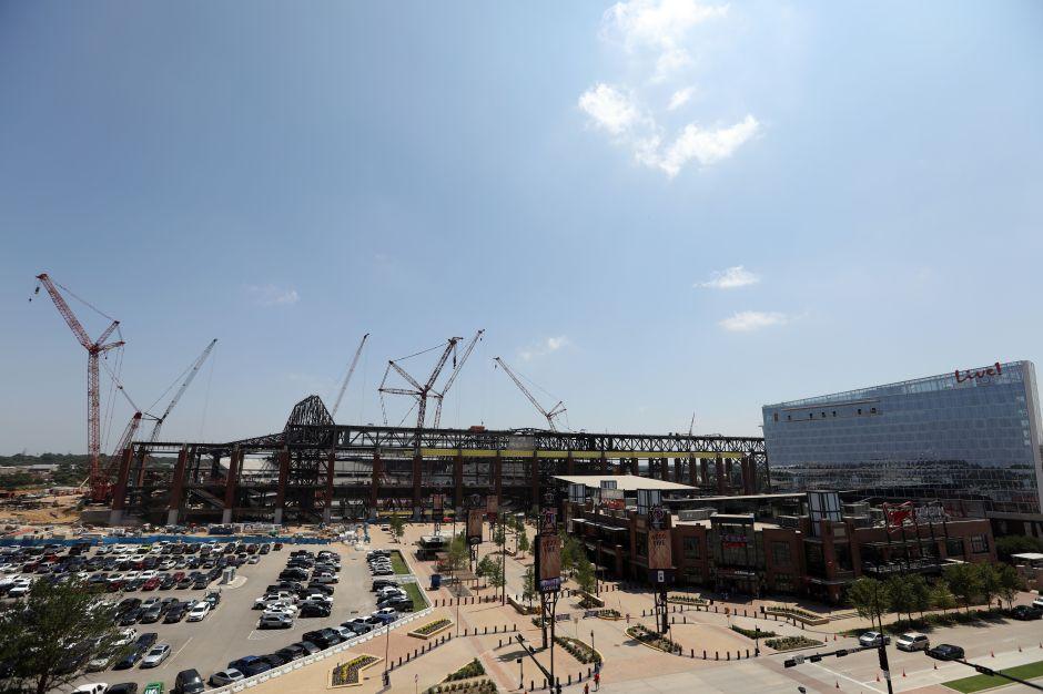 VIDEO: Se incendió el nuevo estadio de los Texas Rangers