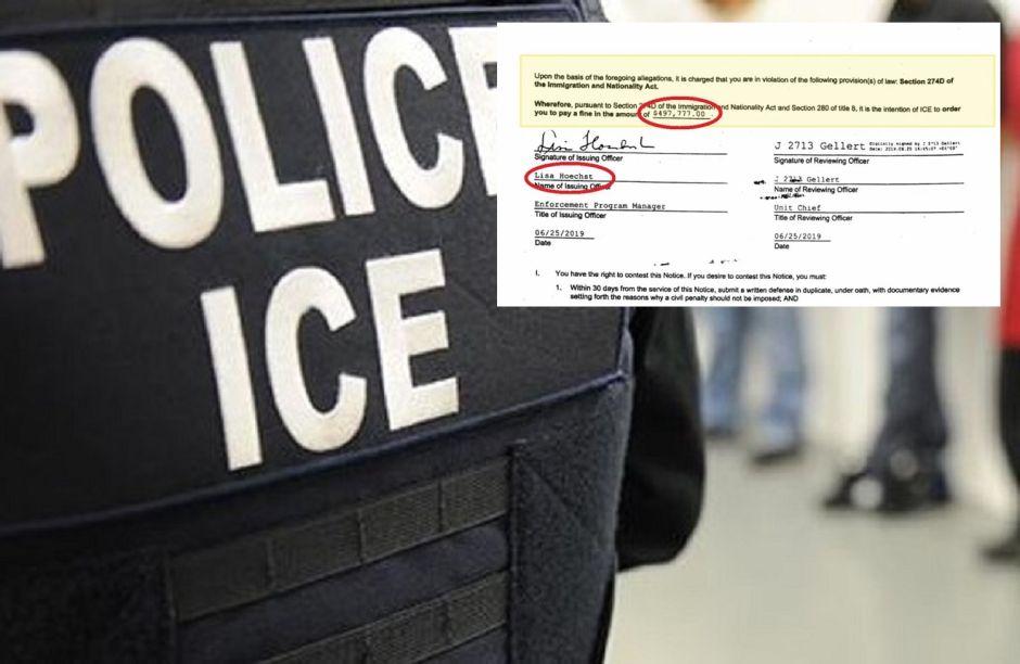 Los inmigrantes a quienes ICE enviaría multas impagables