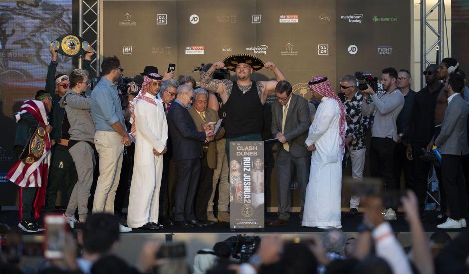 ¡Mexican Style! Andy Ruiz le invitó unos tacos al príncipe de Arabia Saudita