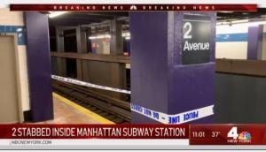 Ataques con cuchillos y martillo en el Metro de Nueva York: dos heridos