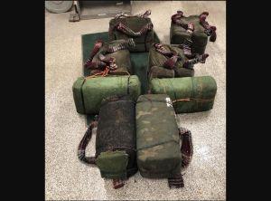'Mulas del narco' abandonan una pesada carga de marihuana