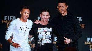 CR7, Messi y Neymar lideran el 11 ideal de la década de la revista France Football