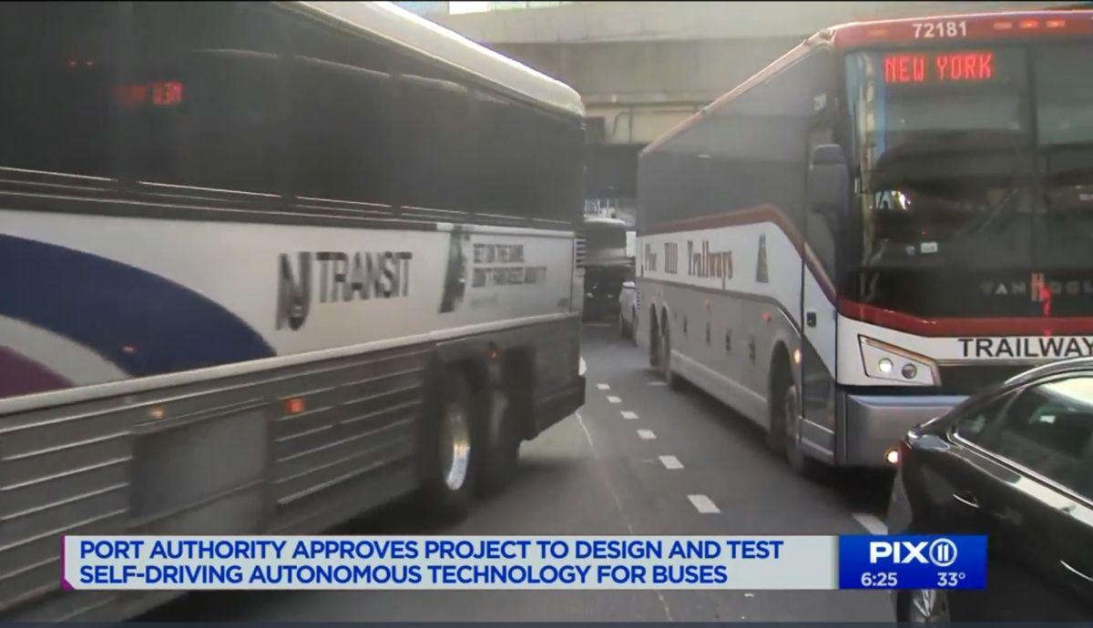 """Autobuses """"sin conductor"""" comenzarán a rodar entre Nueva York y Jersey"""