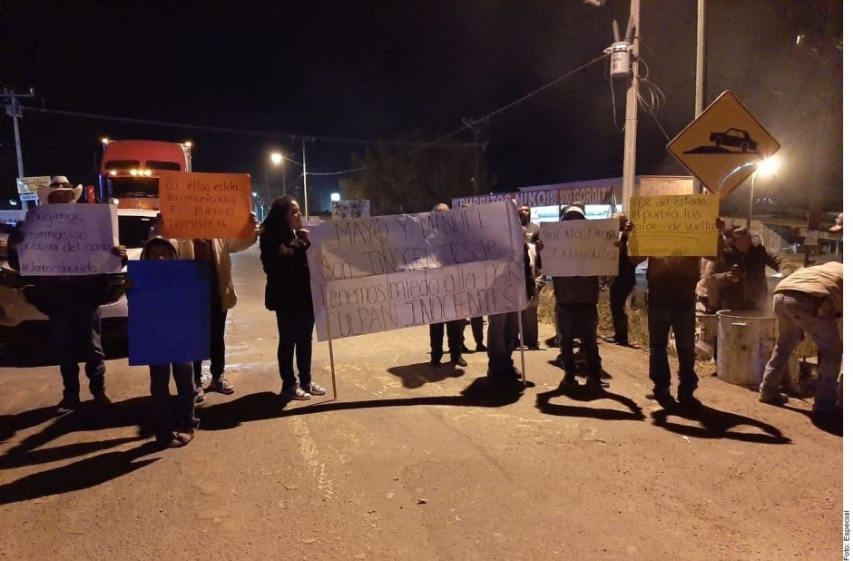 "Protestan por detenidos en caso LeBarón, afirman que son ""chivos expiatorios"""