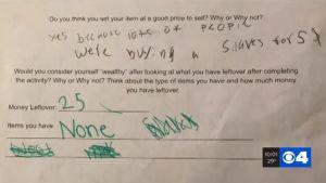 """""""Ponle precio al esclavo"""", la tarea de una escuela primaria en Missouri que provocó indignación"""