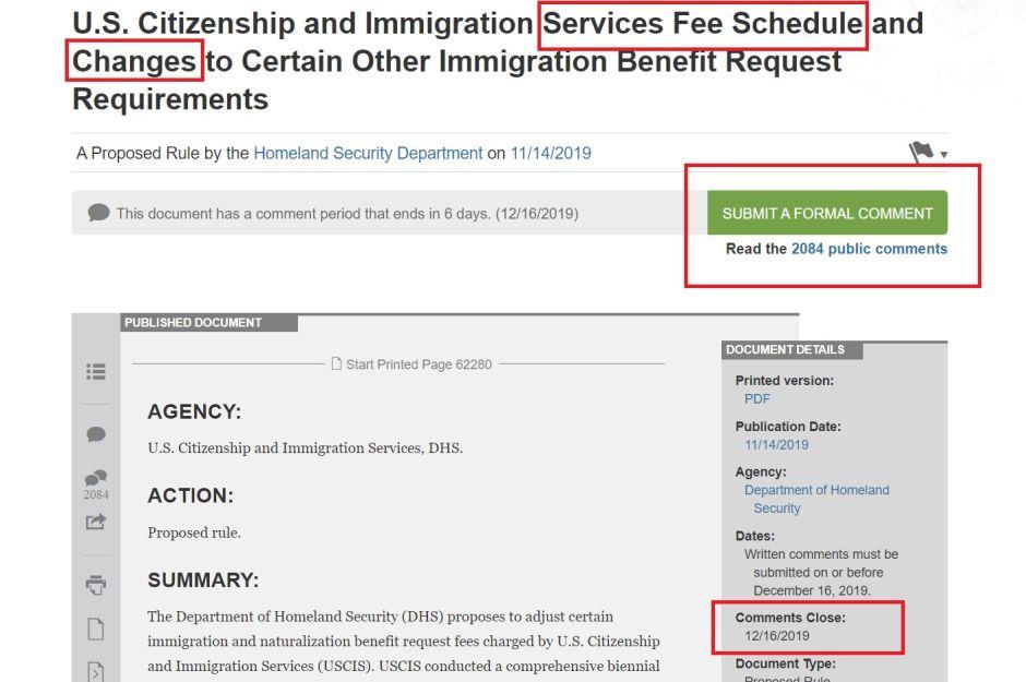 USCIS ajusta proceso para aumento de tarifas de servicios migratorios