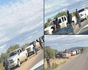 VIDEO: Brazo armado del Mayo Zambada monta retén a unas millas de masacre de los LeBarón