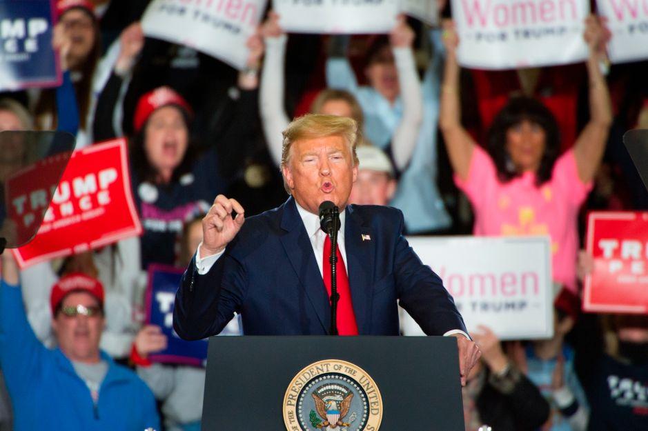 Trump promete derrotar a la izquierda durante evento en Nueva Jersey