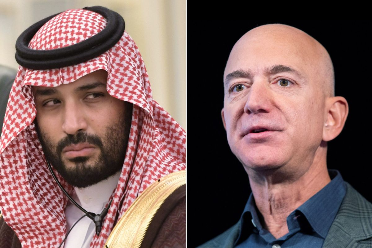 El príncipe saudí y Bezos se conocieron en Los Ángeles en 2018.