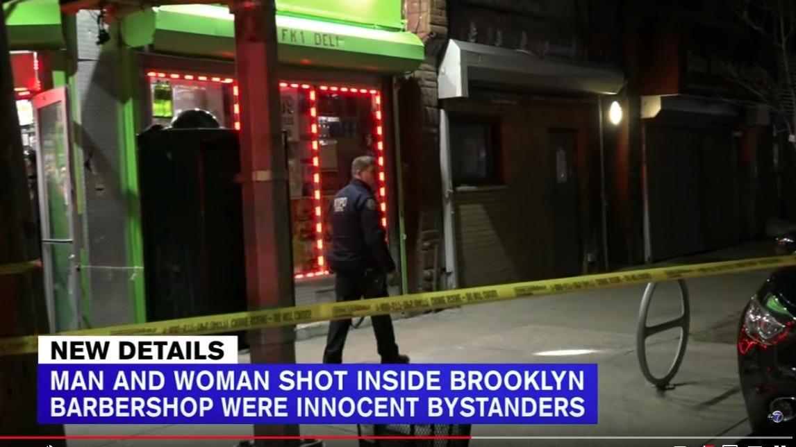 Hispano baleó a una mujer y un hombre en barbería de Brooklyn