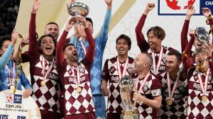 El 'Guaje' Villa dice adiós al futbol como campeón de Japón junto a Iniesta y Podolski