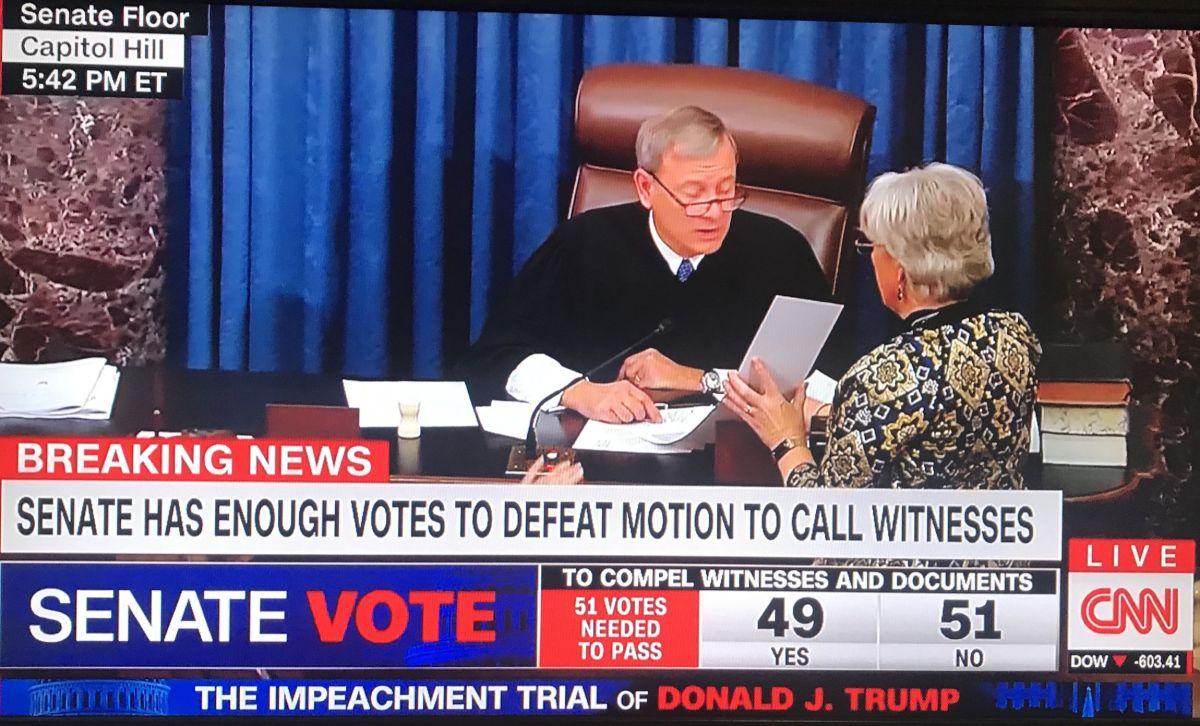 Victoria para Trump y golpe mortal al impeachment: Senado vota no admitir testigos ni pruebas
