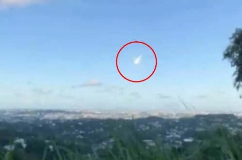 """Ciudadanos de varios pueblos del país reportaron haber visto una """"bola de fuego""""."""