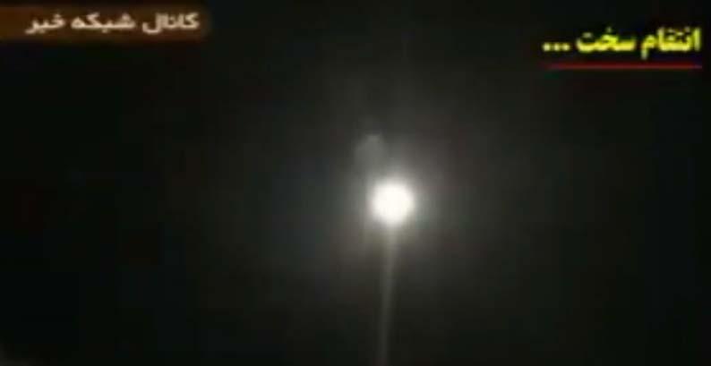 Los videos que publicó Irán del poderoso lanzamiento de misiles contra bases estadounidenses en Irak