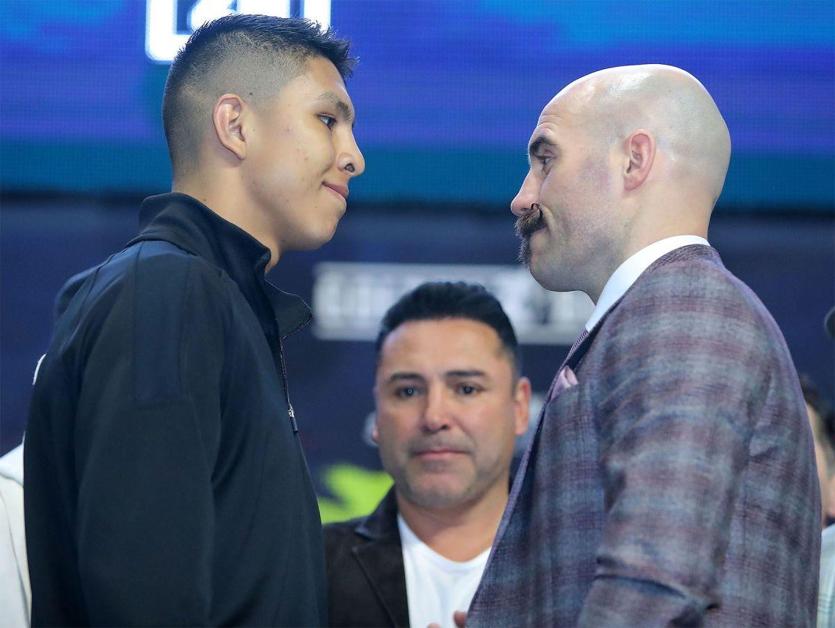 Jaime Munguía y Gary O'Sullivan en la conferencia de prensa.